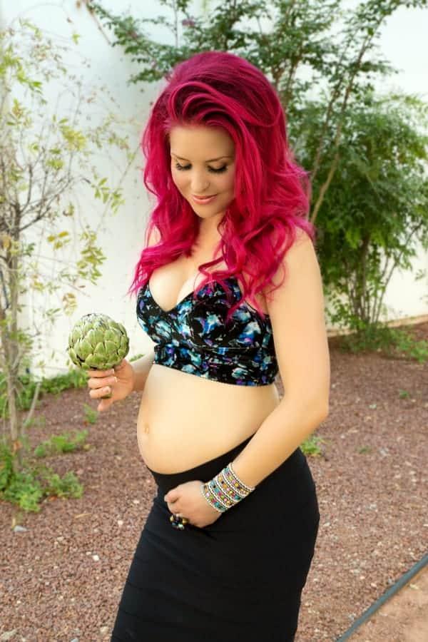 Baby is the size of an artichoke * www.AshleyDiana.com #babygirl #pregnancy