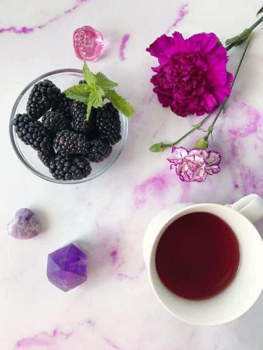 blackberry green tea
