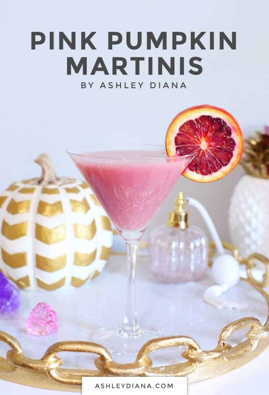 Pink Pumpkin Martinis || Fall Festive Cocktails || Non-traditional Fall Party