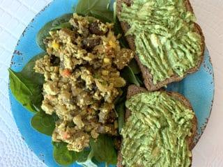 veggie tofu scramble