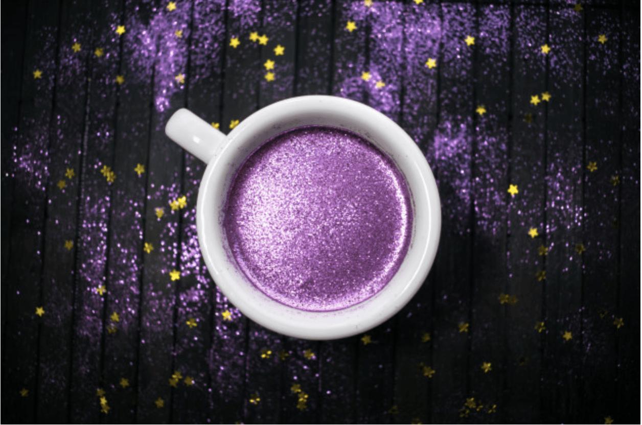 Purple Glitter Coffee